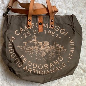 Handbags - Campomaggi canvas olive green tote
